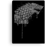 Stark House Game of Thrones Shirt Canvas Print
