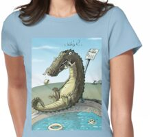 Croco-Munch Womens Fitted T-Shirt