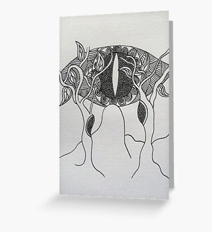 Abstract Eye Tree Greeting Card