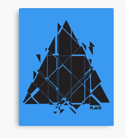PLACE Sci-Fi Triangle Canvas Print