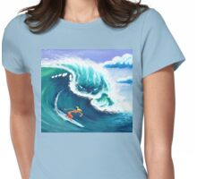 The Big Wave Womens Fitted T-Shirt