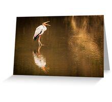 Happy Stork - Masai Mara, Kenya Greeting Card