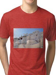 Beautiful white houses in Santorini, Greece Tri-blend T-Shirt
