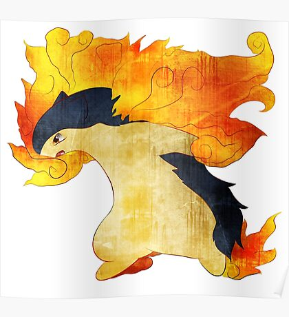 Typhlosion- The Volcano Pokemon Poster