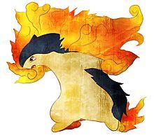 Typhlosion- The Volcano Pokemon Photographic Print