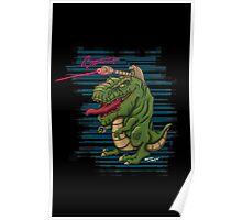 Lazer T-Rex Poster