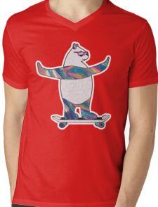 Panda Sk8r Mens V-Neck T-Shirt