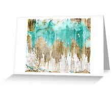 Opulence Turquoise Greeting Card