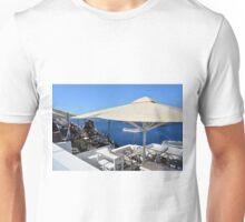 20 September 2016 Terrace in Santorini, Greece Unisex T-Shirt