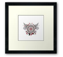 retro pattern kaleidoscope with wings Framed Print