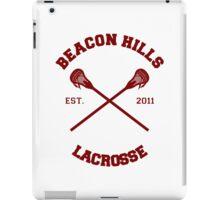 Beacon Hills Lacrosse CRossLogo - Maroon iPad Case/Skin