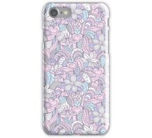 abstract floral background iPhone Case/Skin