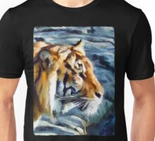 Tiger against the Grey Rock Unisex T-Shirt