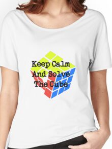 Keep Calm and Solve the Cube Women's Relaxed Fit T-Shirt