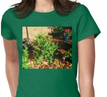 Caught In The Act! Two Falling Leaves Womens Fitted T-Shirt
