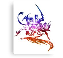 °FINAL FANTASY° Final Fantasy X-2 Rainbow Logo Canvas Print