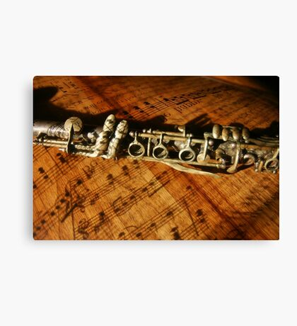 Clarinet Notes Canvas Print