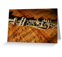 Clarinet Notes Greeting Card