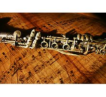 Clarinet Notes Photographic Print