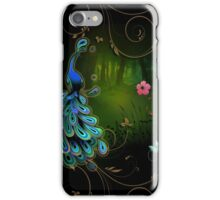 Peacock In The Forest iPhone Case/Skin