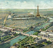 Vintage Pictorial Map of Paris (1900) by BravuraMedia