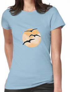 Free Seagulls Womens Fitted T-Shirt