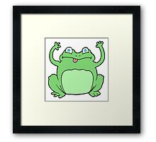 cartoon funny frog Framed Print