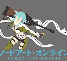 Sinon Minimalistic - Sword Art Online 2  by BK4REVENGE