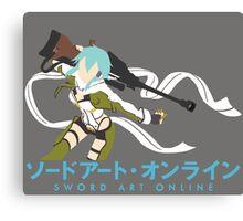 Sinon Minimalistic - Sword Art Online 2  Canvas Print