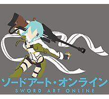 Sinon Minimalistic - Sword Art Online 2  Photographic Print
