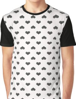Stylish abstract seamless pattern with black graphic hearts Graphic T-Shirt
