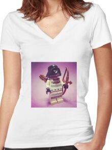 Darth Indian Women's Fitted V-Neck T-Shirt
