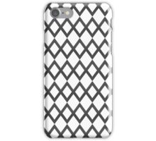Stylish abstract seamless pattern with black graphic ornament grid iPhone Case/Skin