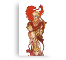 lannister bookmark (well it was a bookmark but i guess you can make it whatever you want) Canvas Print