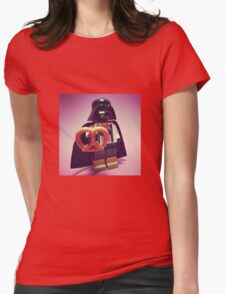 Darth Pretzel Womens Fitted T-Shirt