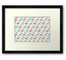 Doodle pattern Framed Print