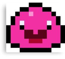 Pixel Pink Slime Canvas Print