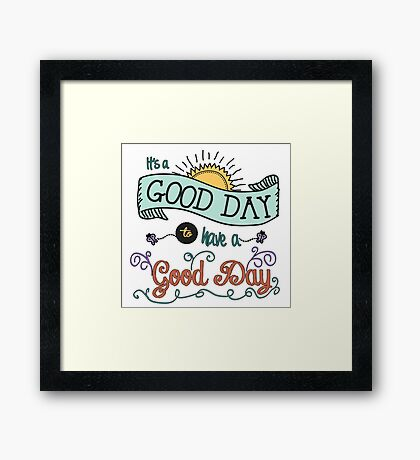 It's a Good Day with Color by Jan Marvin Framed Print