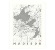 Madison Map Line Art Print