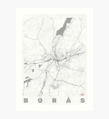 Boras Map Line Art Print