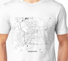 Eindhoven Map Gray Unisex T-Shirt
