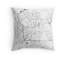 Eindhoven Map Gray Throw Pillow