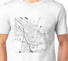 Utrecht Map Gray Unisex T-Shirt