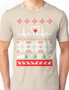 Christmas nurse cna doctor ugly sweater Unisex T-Shirt