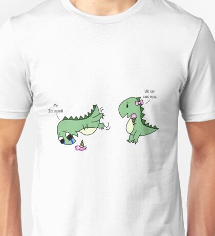 Dino Love (sharing) Unisex T-Shirt