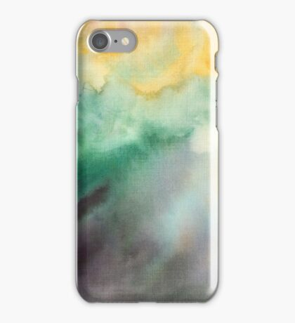 Hand painted abstract watercolor texture iPhone Case/Skin