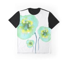 Blue flowers. Graphic T-Shirt