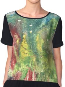 Hand painted abstract watercolor texture Chiffon Top