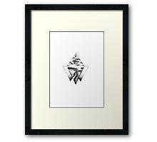 Fineliner forest Framed Print