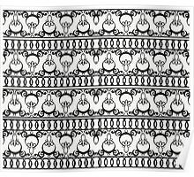 Iron Fence Pattern   Poster